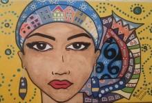 PQ17 Kleurrijk schilderij van Mascha Duncan